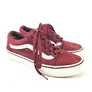 Vans Off The Wall Maroon Canvas Shoes Womens